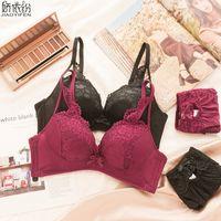 ba06eaf579 Wholesale bra panty branded online - JYF Brand New Women Bra Set Sexy Lace  Embroidery Underwear