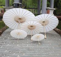 Parasoles de boda nupcial Papel blanco Paraguas Chino Mini Artesanía Paraguas 4 Diámetro 20 30 40 60 cm Paraguas de la boda para al por mayor