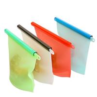 عالية الجودة سيليكون أكياس الطعام الطازجة reusable الأغطية الثلاجة الغذاء تخزين الحاويات حقيبة ثلاجة المطبخ زيبلوك مختومة أكياس dhl