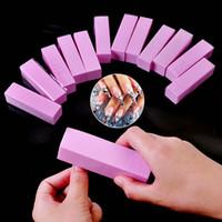 UV Jel Beyaz Tırnak Dosya Tampon Bloğu Polonya Manikür Pedikür Zımpara Tırnak Sanat Aracı 7colors Formu Tırnak Tamponlar Dosyası