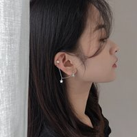 Long Pearl Star Earrings Women' s Cute MORI Series Japan...