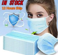 US STOCK Disposable Face Mask 3 Layer Ear- loop Mouth Masks C...