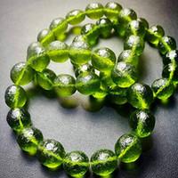 موضة A ++++ 100٪ الطبيعية Moldavite 1PC الأخضر aerolites التشيكية حجر الكريستال 8MM الخرزة نيزك سوار الطاقة