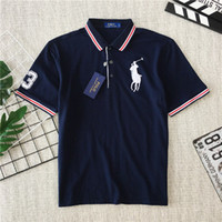 19ss Ralph Lovers Coton Polo T-shirts Paris Lauren À Manches Courtes 4 Couleurs D'été Tee Respirant Gilet Base Shirt Streetwear En Plein Air T-shirt