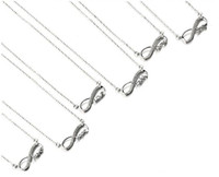 925 Sterling Silver Infinity & Alphabet Pendant Necklace For...