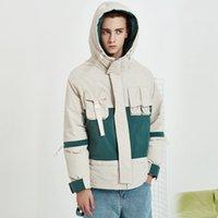 Men's Down & Parkas Men Winter White Duck Thick Hooded Cargo Jacket Male Streetwear Hip Hop Casual Loose Warm Overcoat Coat