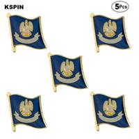 A.B.D Louisiana Broş Yaka Pin Bayrak rozeti Broş iğneler rozetleri 5 adet bir Lot