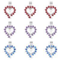 10pcs Bright Silver Heart Shape Pearl Cage pendenti del Locket Aromaterapia olio essenziale diffusore Locket collana per i monili di DIY