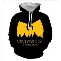 Hot Fashion Streetwear 3D HD Stampa Casual Wu Tang Clan Felpe Felpe Uomo Donna Con Cappuccio Giacca Cappotto LMS0103