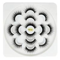 7 paires de faux cils naturels Faux longs cils maquillage 6D synthétique Lashes cheveux Cils Extension pour Make Up