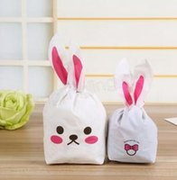 Easter Cookie Bags Cute Rabbit Ear Biscuit Candy Self- adhesi...
