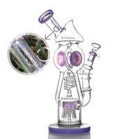 Unique Glass Bong Dab Rig Purple Recycler Sprinkle Perc Oil ...