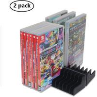 2PCS 게임 카드 상자 저장 닌텐도 스위치 24PCS CD 디스크를 들어 홀더 스탠드