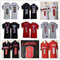 Louisville 8 Lamar Jackson Washington Huskies Texas Tech 5 Patrick Mahomes II UCF Knights 18 Shaquem SM.Гриффин NCAA колледж футбол Джерси