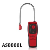 Gasanalysator Brennbarer Gasdetektoranschluss Entzündbarer Erdgas-Leck-Standort Ermitteln Sie den Meter-Tester-Sound-Lichtalarm AS8800L
