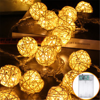 150 만 250 만 5m 등나무 공 LED 크리스마스 문자열 조명 LED 위커 빈티지 세팍타크로 공 램프 홈 실내 장식