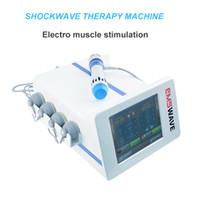 terapia de la máquina portátil física EMS para el alivio del dolor cuerpo de la máquina de ondas de choque / portable phyiscal para el tratamiento ed con el CE aprobado