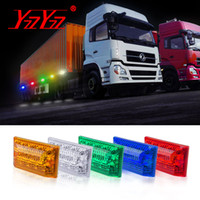 2Pcs 24V LED Rear Side Marker Light Turn Clearance Lights Ta...