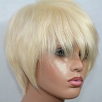 Vancehair 613 blonde full lace Human Hair Wigs Short Human H...