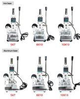 1PC 110V / 220V stampante PVC Manuale Hot Foil Stamping macchina della marcatura di cuoio con controllo della temperatura di timbratura caldo Range 5 * 7cm 8 * 10cm.10 * 13cm