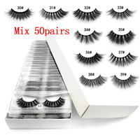 Wholesale 3d mink false eyelashes 30~39# fake lashes natural...