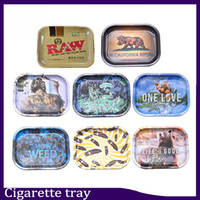 Raw tray Rolling Tray Metal Cigarette Smoking Rolling Trays Tobacco Plate 3 Size Available Smoking Accessories 0266114