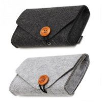 Charger Storage Bag Mini Felt Pouch For Data Cable Mouse Tra...
