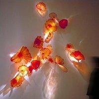 OEM ROD LUWN MURANO Лампы Цветочные искусства Ремесло Симпатичные декоративные стеклянные пластины Настенные висячие плиты