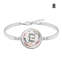 Charm Armbanden Ly Psalm Armband Glas Dome Charms Bijbel Verse Quote Sieraden Gift voor Christian IR-ING