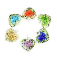 pendenti in vetro di Murano stock lampork alla rinfusa Pendente in vetro a buon mercato all'ingrosso all'ingrosso 12 pezzi / set per gioielli fai da te MC0052