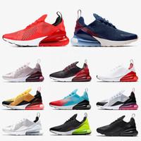 Nike air max 270 nike 270 Il nuovo modo Cuscini donne Scarpe Uomo Habanero Red blu marino Esecuzione Appena Rose foto nera Bianco Blu Mens Sneaker Sneakers off