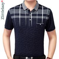 Novo Verão Camisa Polo Homens Polos de Manga Curta Camisas Cruz Slim Fit Mens Pol Roupas Vestido de Musculação Streetwear Poloshirt 8078 C19041501
