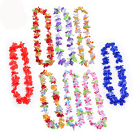 Suministros de fiesta Seda Flor Hawaiana Lei Garland Guirnalda de Hawaii Cheerleading Products Hawaii Collar