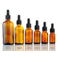 5/10/15/20/30/50 ml de vidro âmbar líquido reagente Pipeta Garrafa Eye Dropper Gota Aromaterapia armazenamento Garrafas Jar