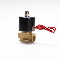 """Eigh Quality 12V DC 3/8 """"Электрический латунный соленоидный клапан газа газ дизель новый 2W040-10"""