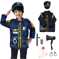 9pcs Pretend Police Officer Toy Outfit Clothes Megaphone wit...