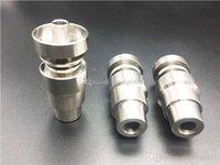 Универсальные 4в1 Domeless Titanium Гвозди 14мм 18мм Joint Мужской Женский Domeless Nail GR2 Регулируемое для стекла Bongs Водопроводные трубы Dab станкам