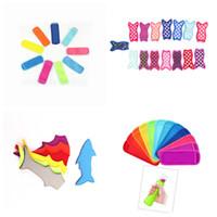 Hot 7 Mermaid-Stil Hai Popsicle Frostschutztasche buntes Eis isoliert Tasche Snorchelmaterial Ice Cream Werkzeuge T2I5016