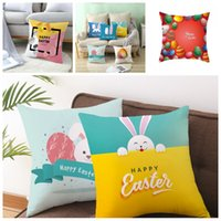 Easter Bunny Pillowcase Rabbit Pillows Cover Easter Decorati...