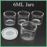 Kein Ausschnitt 6 ml Glas-Konzentrat Container Non Stick Glasflasche Wachs Dab Jar Thick Ölbehälter