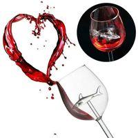 ワイングラスホームファッションオリジナルのサメの赤いゴブレットガラス - パーティーフルートガラスドリンクウェアギフト300mlのためのハンドメイド