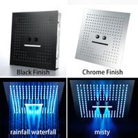 3 Funktion Deckeneinbau LED Regendusche Zubehör für das Badezimmer 304 SUS 400 * 400mm Elektrische LED-Licht Dusche Regen, Wasserfall, Misty