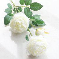 نباتات الفاونيا وهمية سطح المكتب تشبه الحياة 3 رؤساء الزهور الزفاف ديكور حديقة ترتيب الحزب DIY فندق هدايا الزهور الاصطناعية عطلة