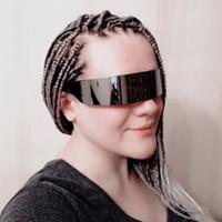 Monob Kostüm Güneş gözlüğü etrafında Komik Fütüristik Wrap Yenilik Gözlük Halloween Party Dekorasyon Parti Unisex Malzemeleri Maske