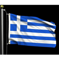 Griechenland-Flagge 90x150cm Individuell 1.5mx0.9m GR GRC griechische Flagge Staat Land Flaggen Banner 3x5 ft Indoor Outdoor gute Qualität Polyester-Banner