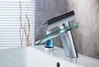 Badezimmer Waschbecken Glas Wasserhahn Wasserfall Glas Badezimmer Becken Chrom Mischbatterie Waschbecken Wasserhahn