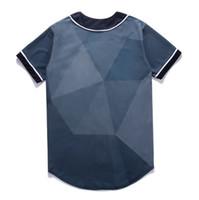 Fashion 3D Uomo Baseball Shirt Sport Jersey di buona qualità con bottone vendita online 21