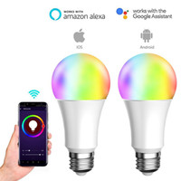 Smart LED Multicolor Bulb, 60W Equivalent, RGBCW Color and Tunable White 2000-6500K, Works with Alexa & Google Assistant
