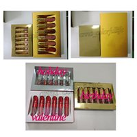 Lip Gloss Lord Metal Gold la Limited Edition Birthday CONFERMATA Matte Lipstick Lip Kit Cosmetici Rossetti liquidi Set 6 pezzi