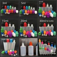 E Flüssigkeitsflaschen 3 ml 5 ml 10 ml 15 ml 20 ml 30 ml Leere Pipette LDPE Kunststoff-Kindersicherungskappen Lange, dünne Nadelspitzen für Juice Vape Oil